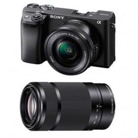 Sony Alpha 6400 Body Black + SEL E PZ 16-50 mm f/3,5-5,6 OSS + SEL E 55-210 mm f/4.5-6.3 OSS   2 Years Warranty