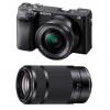 Sony Alpha 6400 Cuerpo Negro + SEL E PZ 16-50 mm f/3,5-5,6 OSS + SEL E 55-210 mm f/4.5-6.3 OSS | 2 años de garantía