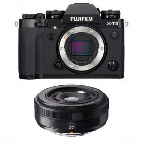 Fujifilm X-T3 Black + Fujinon XF 27mm f/2.8 | 2 Years Warranty