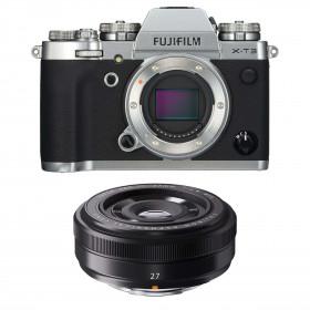 Fujifilm X-T3 Silver + Fujinon XF 27mm f/2.8 Black | 2 Years Warranty