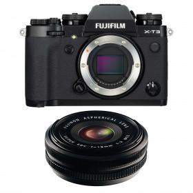Fujifilm X-T3 Black + Fujinon XF 18mm f/2.0 R | 2 Years Warranty