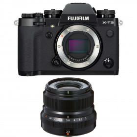 Fujifilm X-T3 Noir + Fujinon XF 23mm F2 R WR