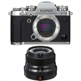 Fujifilm X-T3 Silver + Fujinon XF 23mm F2 R WR Black | 2 Years Warranty