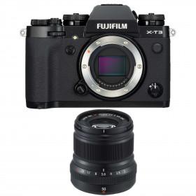Fujifilm X-T3 Black + Fujinon XF 50mm F2 R WR | 2 Years Warranty