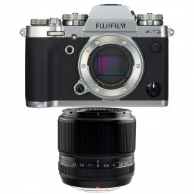 Fujifilm X-T3 Silver + Fujinon XF 60mm f2.4 R Black | 2 Years Warranty