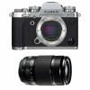 Fujifilm X-T3 Silver + Fujinon XF 55-200mm F3.5-4.8 R LM OIS Noir   Garantie 2 ans