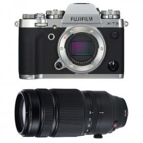 Fujifilm X-T3 Silver + Fujinon XF 100-400mm F4.5-5.6 R LM OIS WR Noir