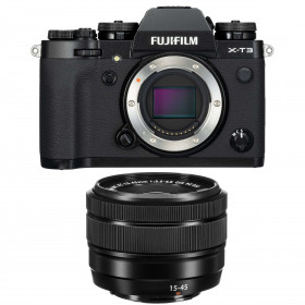 Fujifilm X-T3 Black + Fujinon XC 15-45mm F3.5-5.6 OIS PZ | 2 Years Warranty