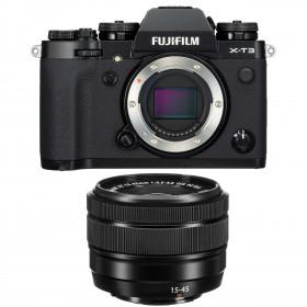 Fujifilm X-T3 Noir + Fujinon XC 15-45mm F3.5-5.6 OIS PZ
