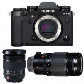 Fujifilm X-T3 Black + Fujinon XF 16-55mm F2.8 R LM WR + Fujinon XF 50-140mm F2.8 R LM OIS WR | 2 Years Warranty