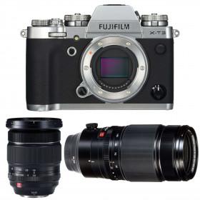 Fujifilm X-T3 Silver + Fujinon XF 16-55mm F2.8 R LM WR Black + Fujinon XF 50-140mm F2.8 R LM OIS WR Black | 2 Years Warranty