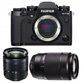 Fujifilm X-T3 Black + Fujinon XC 16-50mm F3.5-5.6 OIS II + Fujinon XC50-230mm F4.5-6.7 OIS II | 2 Years Warranty