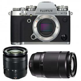 Fujifilm X-T3 Silver + Fujinon XC 16-50mm F3.5-5.6 OIS II Black + Fujinon XC50-230mm F4.5-6.7 OIS II Black | 2 Years Warranty