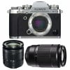 Fujifilm X-T3 Silver + Fujinon XC 16-50mm F3.5-5.6 OIS II Black +  Fujinon XC50-230mm F4.5-6.7 OIS II Black | 2 Years Warranty