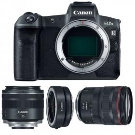 Canon EOS R + RF 24-105 mm f/4L IS USM + RF 35mm f/1.8 Macro IS STM + Canon EF EOS R | 2 Years Warranty