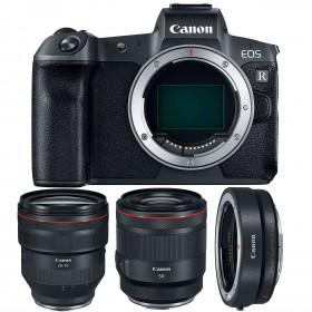Canon EOS R + RF 28-70mm f/2L USM + RF 50mm f/1.2L USM + Canon EF EOS R | 2 Years Warranty