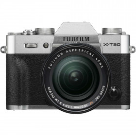 Fujifilm X-T30 Silver + XF 18-55mm f/2.8-4 R LM OIS Black | 2 Years Warranty