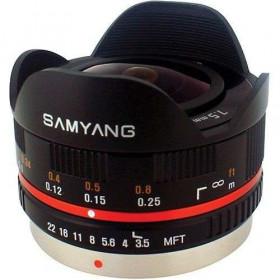 Samyang 7.5mm 1:3.5 UMC Fish-eye MFT Negro (M3/4)