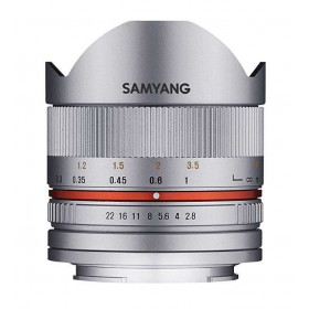 Samyang 8mm f2.8 UMC Fish-Eye CS II Sony E Plata