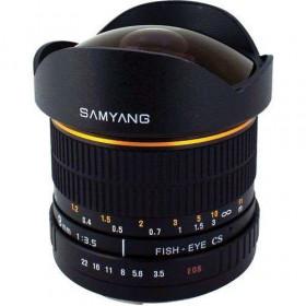 Samyang 8mm F3.5 UMC Fish-Eye CS II Fuji X Negro