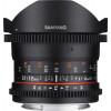 Samyang 12mm T3.1 VDSLR ED AS NCS Fisheye Sony E Negro