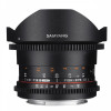 Samyang 8mm T3.8 Fisheye VDSLR CS II Nikon Negro