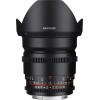 Samyang 16 mm T2.2 ED AS UMC CS VDSLR II Canon Negro