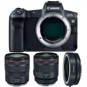 Canon EOS R + RF 24-105 mm f/4L IS USM + RF 50mm f/1.2L USM + Canon EF EOS R | 2 Years Warranty