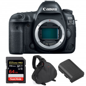 Canon EOS 5D Mark IV Body + SanDisk 64GB Extreme PRO UHS-I SDXC 170 MB/s + Canon LP-E6N + Camera Bag | 2 Years Warranty