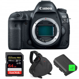 Canon EOS 5D Mark IV Cuerpo + SanDisk 64GB Extreme PRO UHS-I SDXC 170 MB/s + 2 Canon LP-E6N  + Bolsa | 2 años de garantía