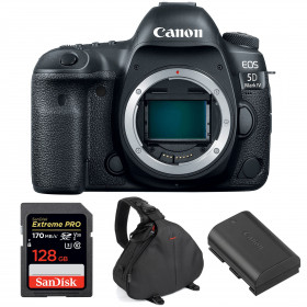 Canon EOS 5D Mark IV Body + SanDisk 128GB Extreme PRO UHS-I SDXC 170 MB/s + Canon LP-E6N + Camera Bag | 2 Years Warranty