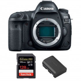 Canon EOS 5D Mark IV Body + SanDisk 128GB Extreme PRO UHS-I SDXC 170 MB/s + Canon LP-E6N | 2 Years Warranty