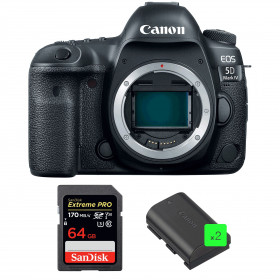 Canon EOS 5D Mark IV Nu + SanDisk 64GB Extreme PRO UHS-I SDXC 170 MB/s + 2 Canon LP-E6N