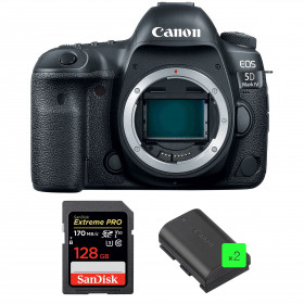 Canon EOS 5D Mark IV Nu + SanDisk 128GB Extreme PRO UHS-I SDXC 170 MB/s + 2 Canon LP-E6N