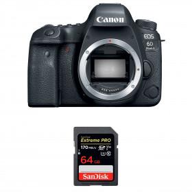 Canon EOS 6D Mark II Body + SanDisk 64GB Extreme PRO UHS-I SDXC 170 MB/s | 2 Years Warranty