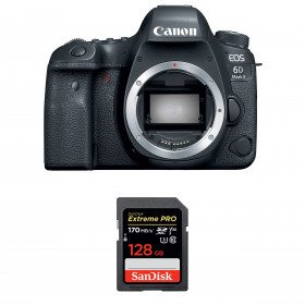 Canon EOS 6D Mark II Body + SanDisk 128GB Extreme PRO UHS-I SDXC 170 MB/s | 2 Years Warranty