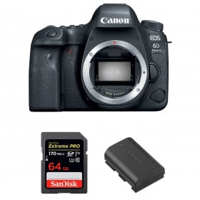 Canon EOS 6D Mark II Body + SanDisk 64GB Extreme PRO UHS-I SDXC 170 MB/s + Canon LP-E6N | 2 Years Warranty