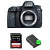 Canon EOS 6D Mark II Nu + SanDisk 256GB Extreme PRO UHS-I SDXC 170 MB/s + 2 Canon LP-E6N | Garantie 2 ans