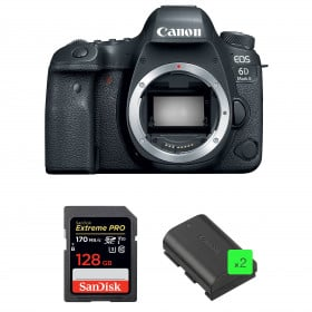 Canon EOS 6D Mark II Body + SanDisk 128GB Extreme PRO UHS-I SDXC 170 MB/s + 2 Canon LP-E6N | 2 Years Warranty