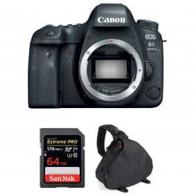 Canon EOS 6D Mark II Body + SanDisk 64GB Extreme PRO UHS-I SDXC 170 MB/s + Bag | 2 Years Warranty
