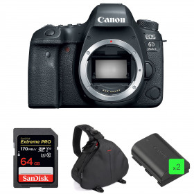 Canon EOS 6D Mark II Body + SanDisk 64GB Extreme PRO UHS-I SDXC 170 MB/s + 2 Canon LP-E6N + Bag | 2 Years Warranty