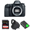 Canon EOS 6D Mark II Nu + SanDisk 256GB Extreme PRO UHS-I SDXC 170 MB/s + 2 Canon LP-E6N + Sac | Garantie 2 ans
