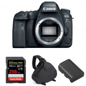 Canon EOS 6D Mark II Body + SanDisk 256GB Extreme PRO UHS-I SDXC 170 MB/s + Canon LP-E6N + Bag | 2 Years Warranty