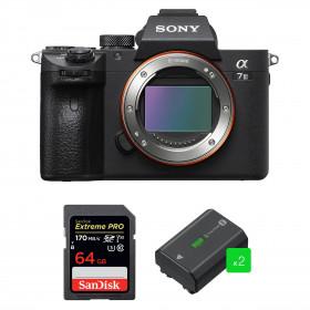 Sony Alpha 7 III Body + SanDisk 64GB Extreme PRO UHS-I SDXC 170 MB/s + 2 Sony NP-FZ100   2 Years Warranty