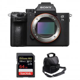 Sony Alpha 7 III Body + SanDisk 64GB Extreme PRO UHS-I SDXC 170 MB/s + Camera Bag   2 Years Warranty