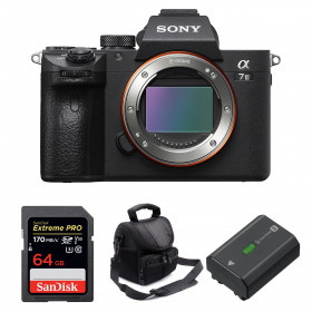 Sony Alpha 7 III Body + SanDisk 64GB Extreme PRO UHS-I SDXC 170 MB/s + Sony NP-FZ100 + Camera Bag   2 Years Warranty