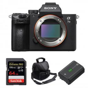 Sony Alpha 7 III Cuerpo + SanDisk 64GB Extreme PRO UHS-I SDXC 170 MB/s + Sony NP-FZ100 + Bolsa | 2 años de garantía