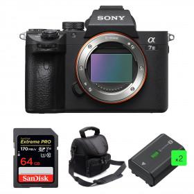 Sony Alpha 7 III Cuerpo + SanDisk 64GB Extreme PRO UHS-I SDXC 170 MB/s + 2 Sony NP-FZ100 + Bolsa | 2 años de garantía