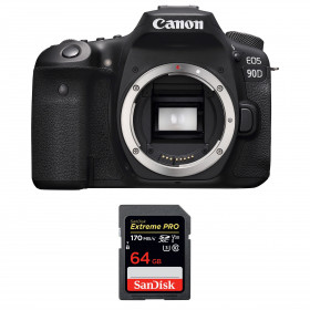 Canon EOS 90D Body + SanDisk 64GB Extreme PRO UHS-I SDXC 170 MB/s | 2 Years Warranty