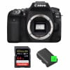 Canon EOS 90D Body + SanDisk 64GB Extreme PRO UHS-I SDXC 170 MB/s + 2 Canon LP-E6N   2 Years Warranty